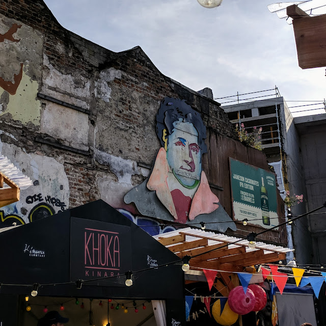 One Day in Dublin City: Street art at the Eatyard at the Bernard Shaw Pub
