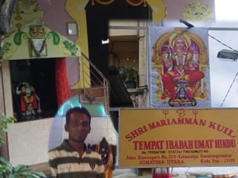 Berdiri Sejak 1948 di Siantar, Inilah Kuil Hindu Shri Mariamman di Kelurahan Karo