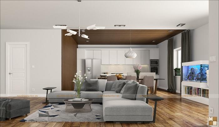 Thiết kế căn hộ 2 phòng ngủ hiện đại, đẹp mê ly - H1