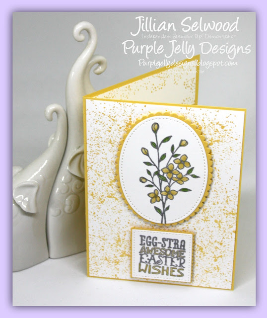Touches of Texture stamp set, My Hero Stamp set, Easter Card