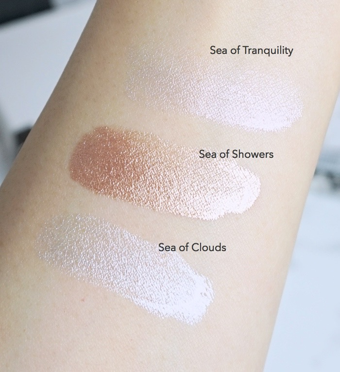 Rouge Bunny Rouge highlighting liquid swatches