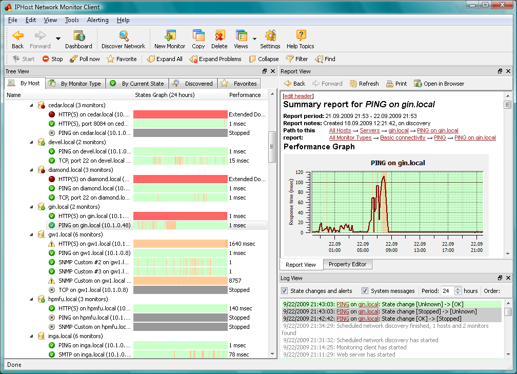 Iphost Network Monitor 3 1 Free Network And Server