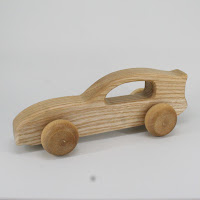 LFC28, Investigator Car, Lotes Toys Wooden Car