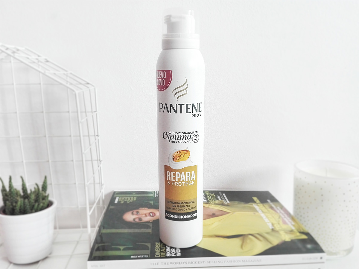 pantene pro-v acondicionador en espuma en la ducha beauty blog review