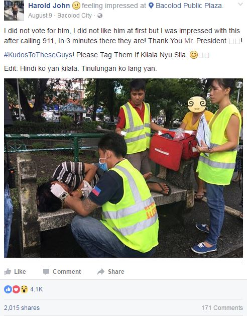 MUST READ: Netizens Praise President Duterte For 911 Response! 'I Did Not Vote For Him But I'm Impressed'