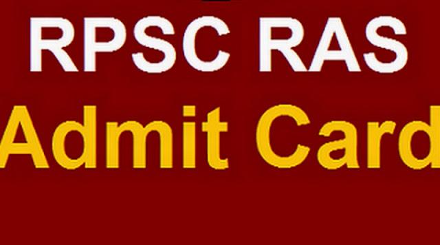 RPSC RAS Admit Card