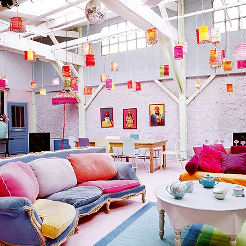 Colorful Bohemian Rooms: Ophelia's Adornments Blog: Fearless Bohemian Color
