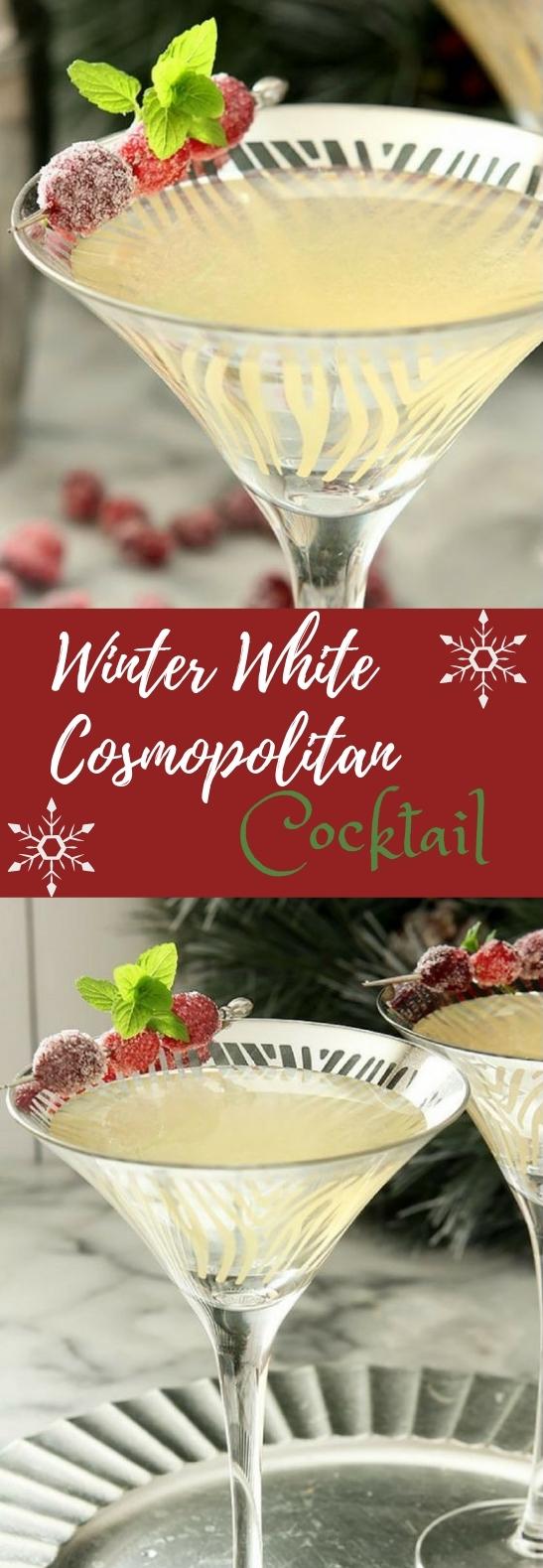 WINTER WHITE COSMOPOLITAN #winterdrink #cocktail