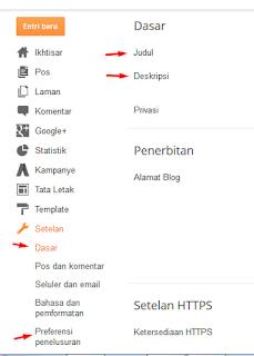 Setting dasar blogger