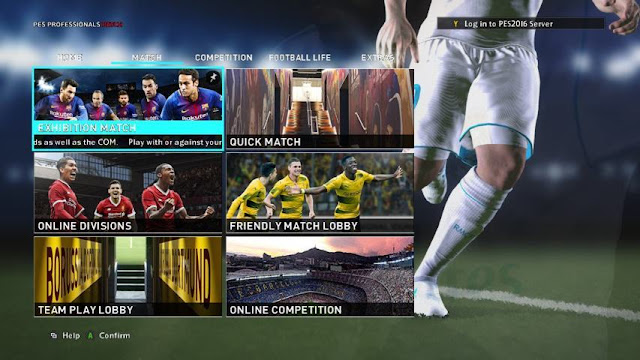 PES 2018 Graphic Menu For PES 2016