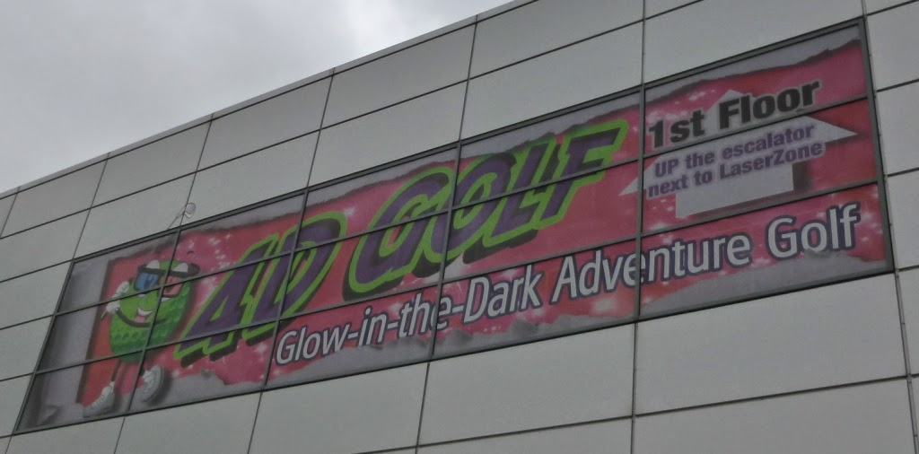4D Glow in the Dark Adventure Golf at Xscape Yorkshire in Castleford