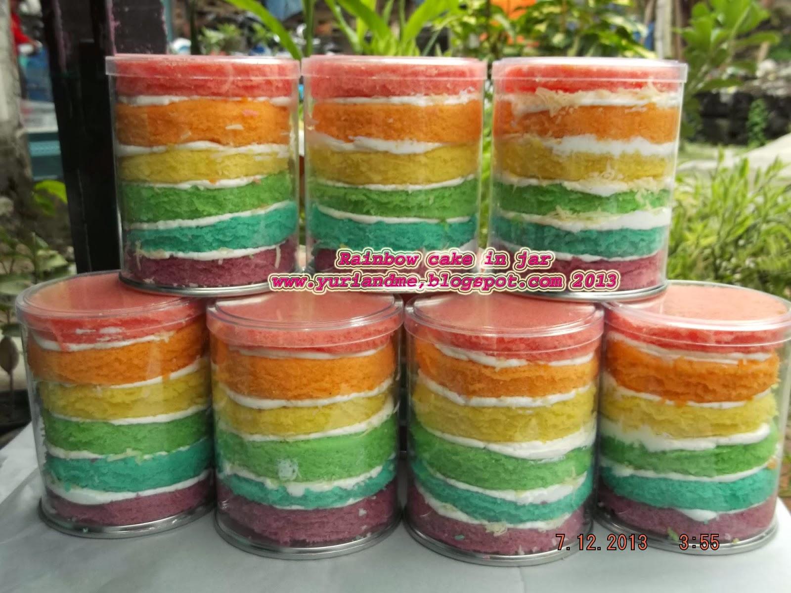 Online Cake Shop: Rainbow Cake In Jar