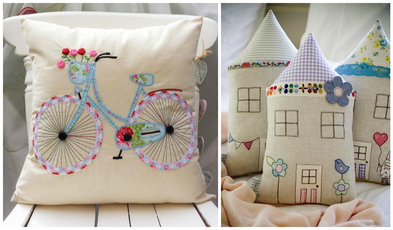 10 ideas para hacer lindos cojines decorativos para tu - Fotos de cojines decorativos ...