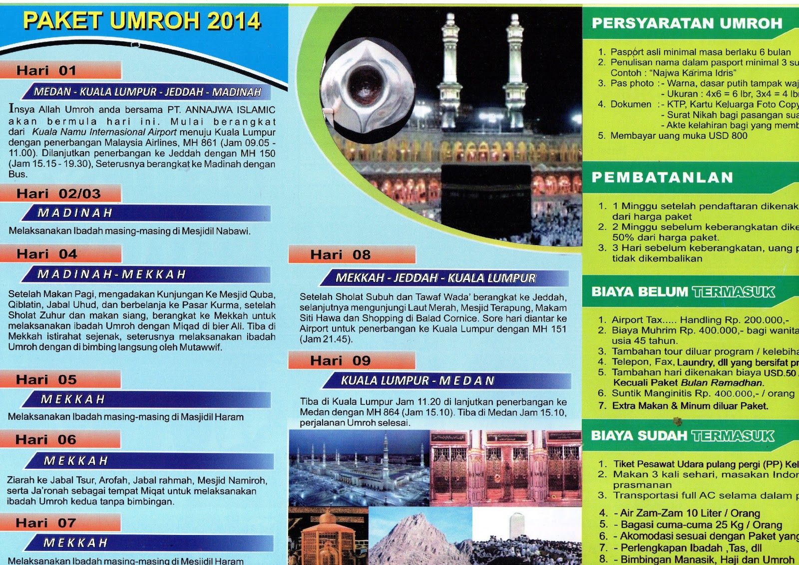 Brosur Umroh 2014 Pt Annajwa Islamic Tour Travel Umroh Dan Haji Plus