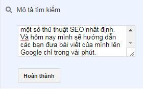 huong dan seo bai viet len google chi trong vai phut