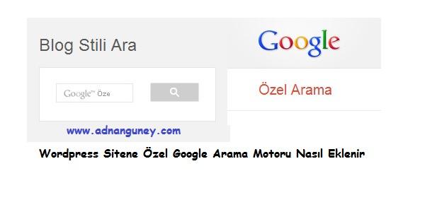 Sitene Özel Google Arama Motoru Eklentisi Ekle