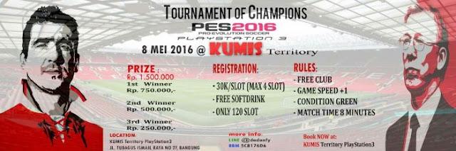 Kompetisi PES 2016 di Bandung Mei 2016