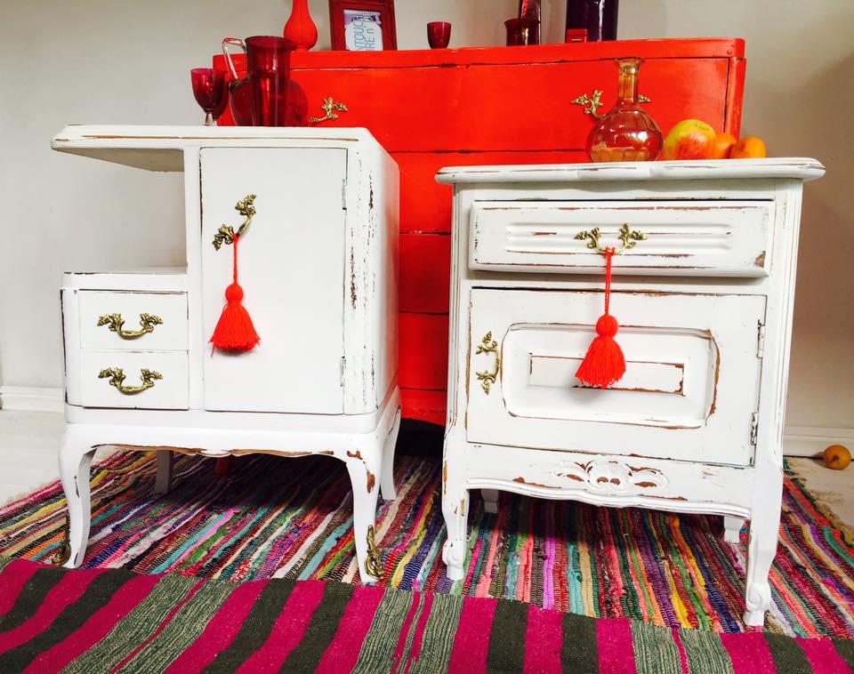 Vintouch muebles reciclados pintados a mano mesas de - Mueble provenzal frances ...
