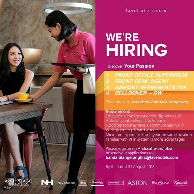 Lowongan kerja Favehotel Bandara Tangerang 2018 bagian 1