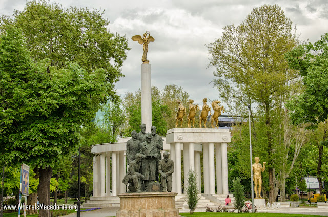 Monument - Park Woman Warrior (Парк Жена - Борец), Skopje, Macedonia