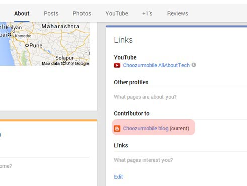Contributor to list on Google About page