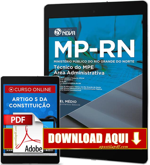 Apostila MP RN 2017 PDF Digital Download Técnico Área Administrativa