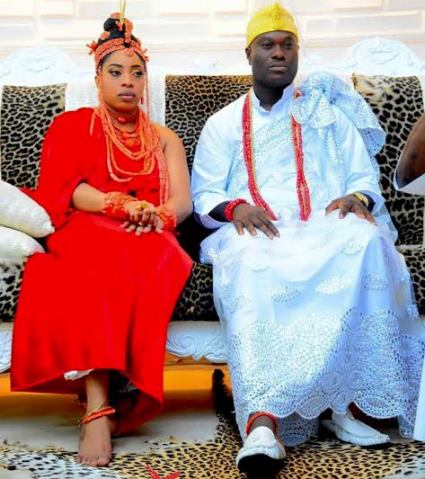 ooni of ife and his new wife Wuraola oneee