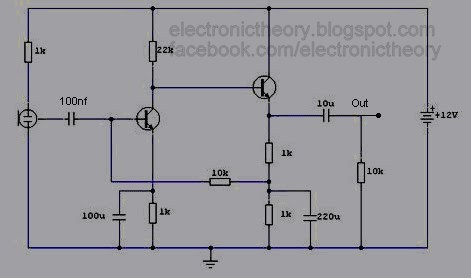 Pre-Amp Condenser Microphone Circuit