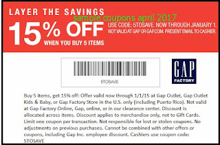 free Gap coupons for april 2017