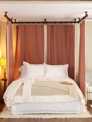 Digs headboard now that 39 s using your noggin - Canopy bed curtain ideas ...