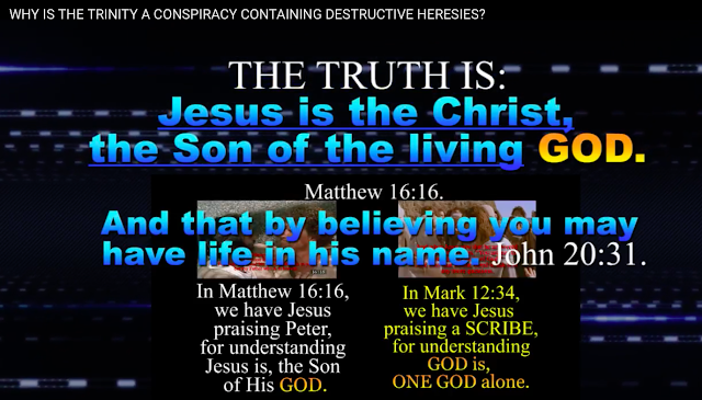 while keeping quiet they use FALSE translations and proved forgeries teaching GOD is THREE persons, and Jesus is GOD, which is a CONSPIRACY.