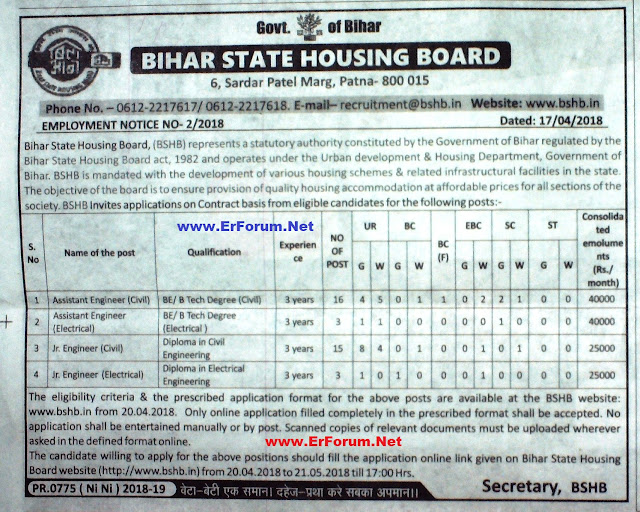 bshb-recruitment-notification-2018