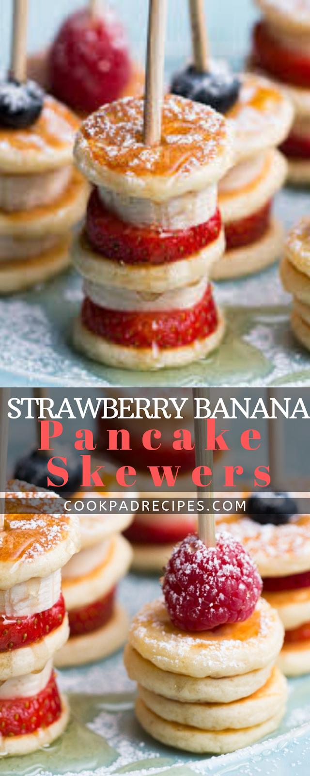 Strawberry Banana Pancake Skewers