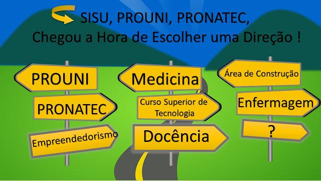 Que direção seguir, e como fazer a melhor escolha de curso no sistema SISUTEC?