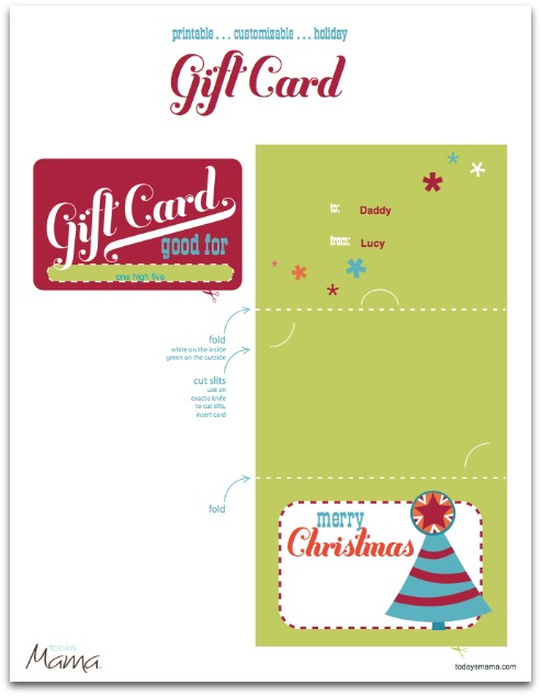 holiday gift certificate template free printable - craftionary