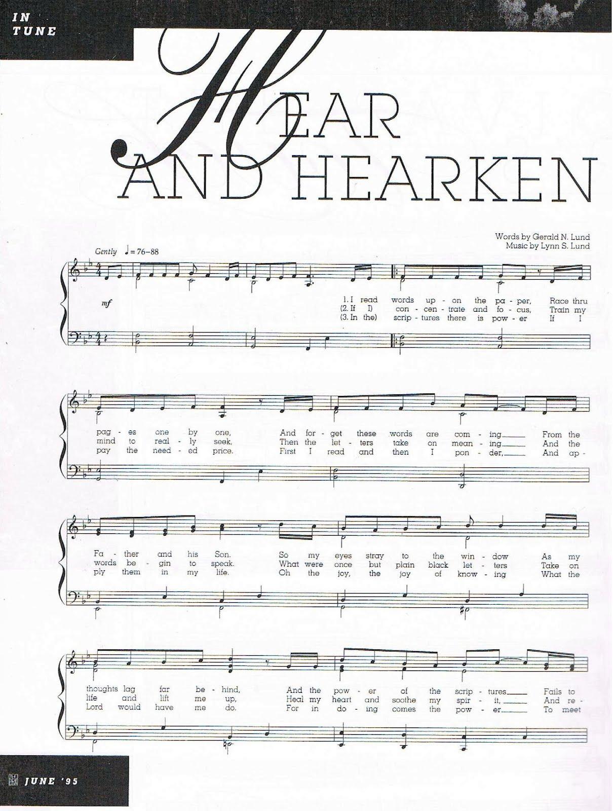sally deford hear thou the song pdf