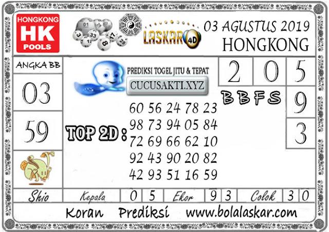 Prediksi Togel HONGKONG LASKAR4D 03 AGUSTUS 2019