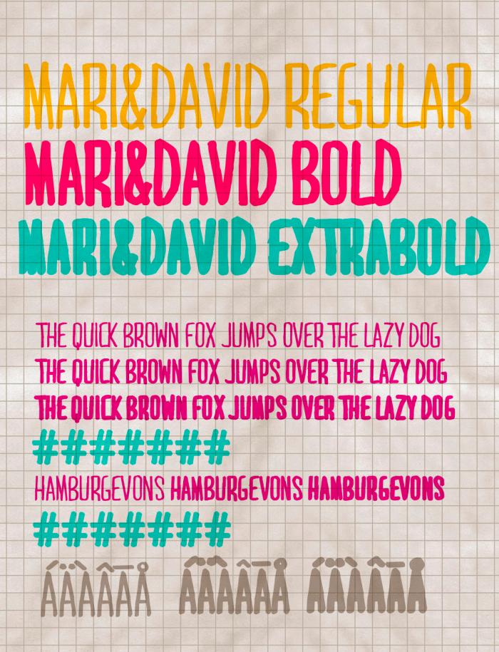 Download Font Handletter Tulisan Tangan Terbaik - Mari & David