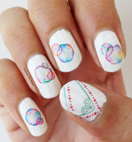 Born Pretty Store Water Bubbles Nail Art Water Decals Review - Makeup And Beauty Treasure: Born Pretty Store Water Bubbles Nail Art