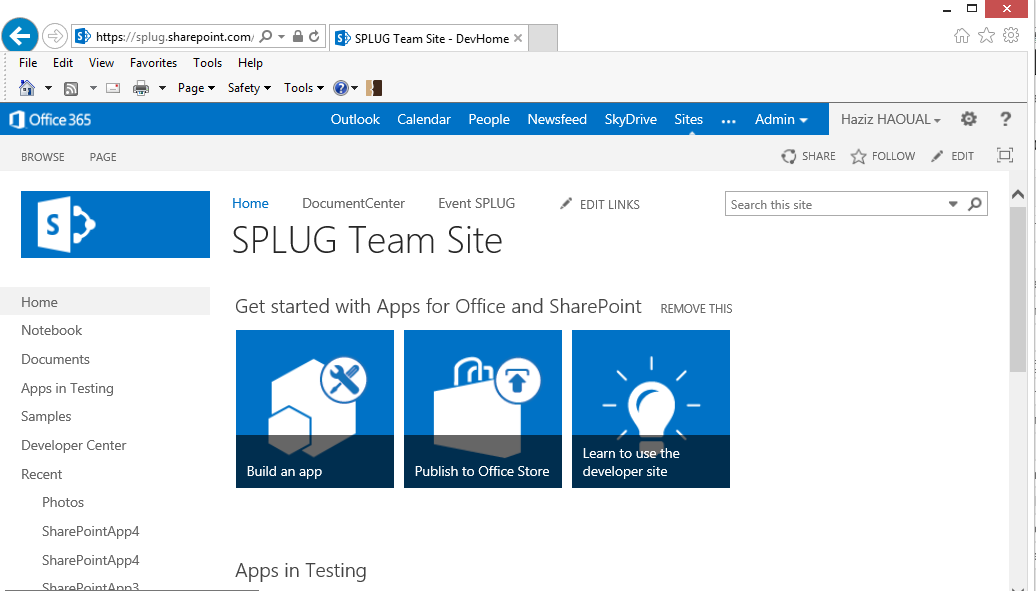 SharePoint 2013 : How to create your own tile menu (1