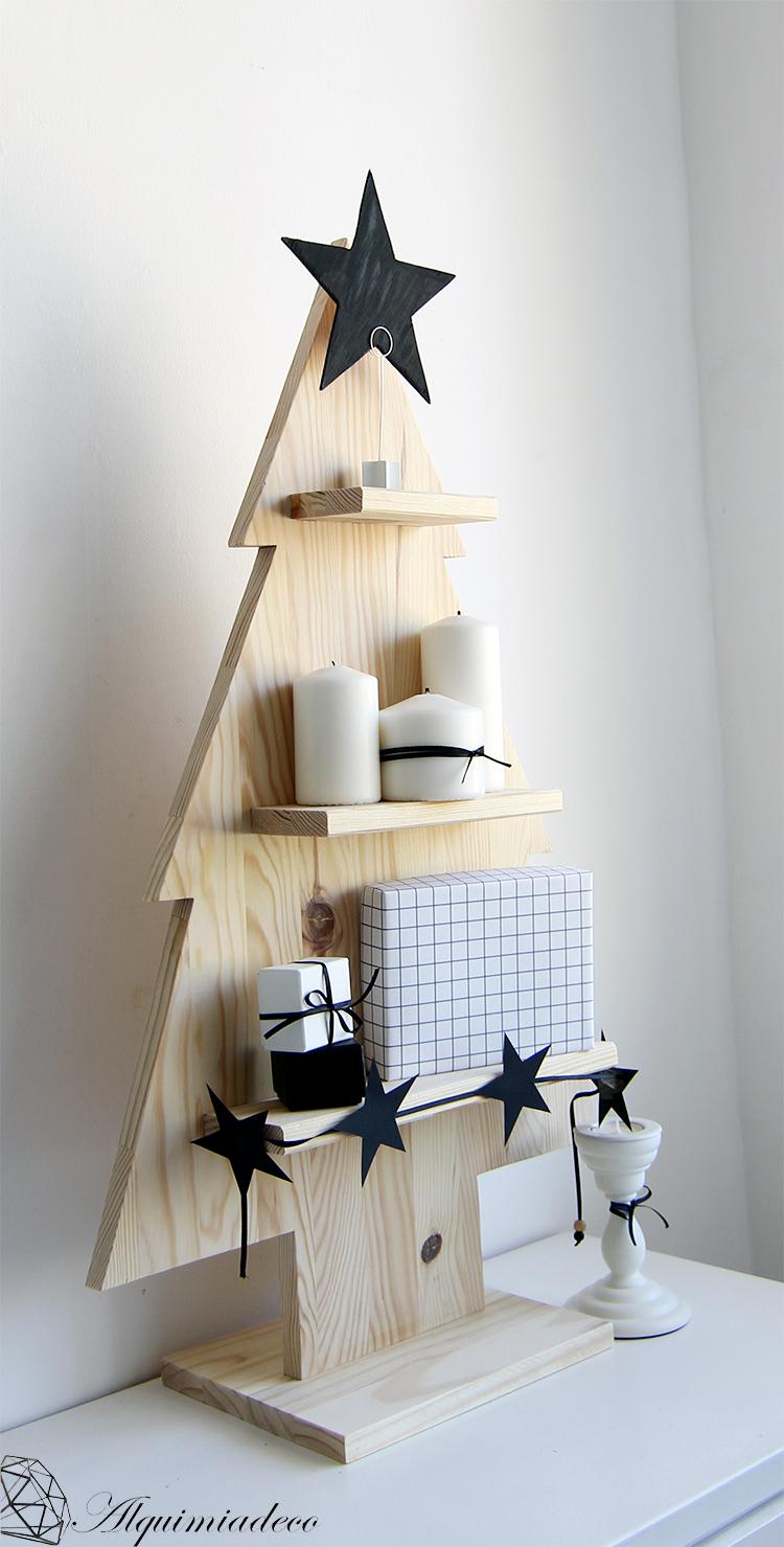 Diy arbol de navidad de madera alquimia deco - Arboles de navidad de madera ...