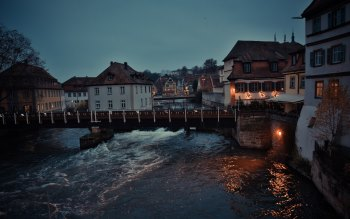 Wallpaper: Bamberg town in Bavaria, Germany