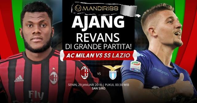 Prediksi AC Milan Vs Lazio , Senin 28 January 2018 Pukul 00.30 WIB