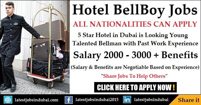BellBoy jobs in Dubai Hotels 2017