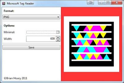 Microsoft Tag Reader, pretvorite TAG datoteku u PNG, JPEG ...