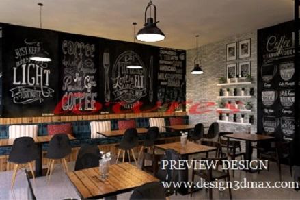 JASA DESAIN  3D MAX MURAH Jasa desain  kedai kopi  konsep