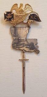 Louisiana participant jewel, Masonic Knights Templar 31st Triennial Conclave, Chicago,1910.