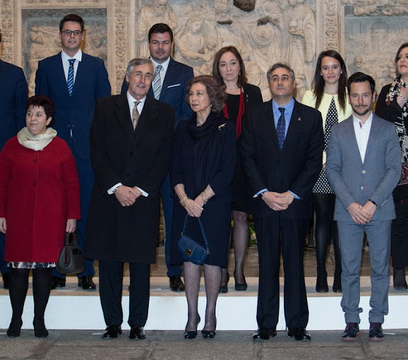 "Queen Sofia of Spain attends the opening concert of the ""Chamber Music in the World Heritage Cities"" (Spanish: Musica De Camara En Las Ciudades Patrimonio De La Humanidad) at Ávila Cathedral"
