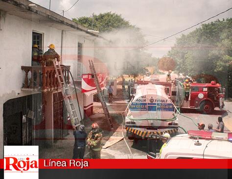 Incendio en la planta alta de una casa de la colonia Bellavista de Playa del Carmen no registro lesionados