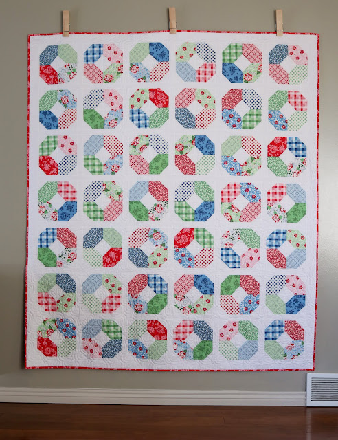 Layer Cake Lucy quilt by Andy Knowlton of A Bright Corner